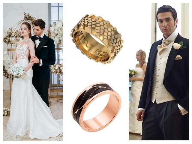 Кольца из красного золота на свадьбу