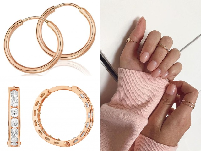 Женские серьги кольца из золота