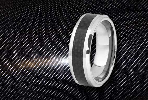Золотое кольцо из карбона