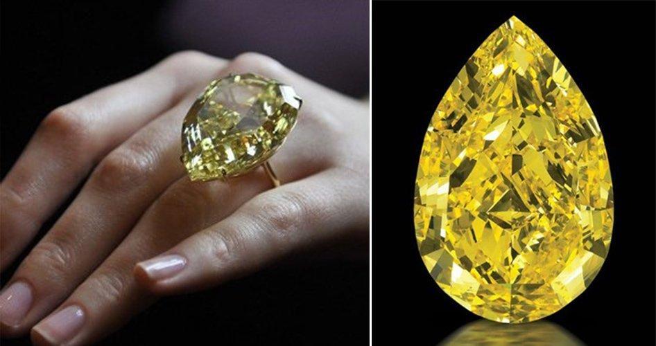 Бриллиант желтого цвета
