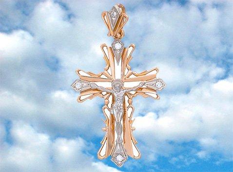 Золотой православный крест