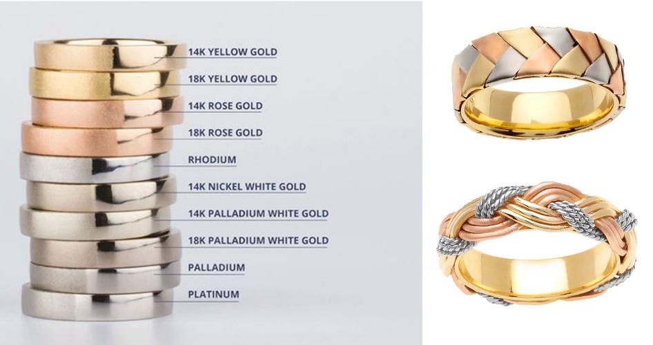 Оттенки золота в украшениях