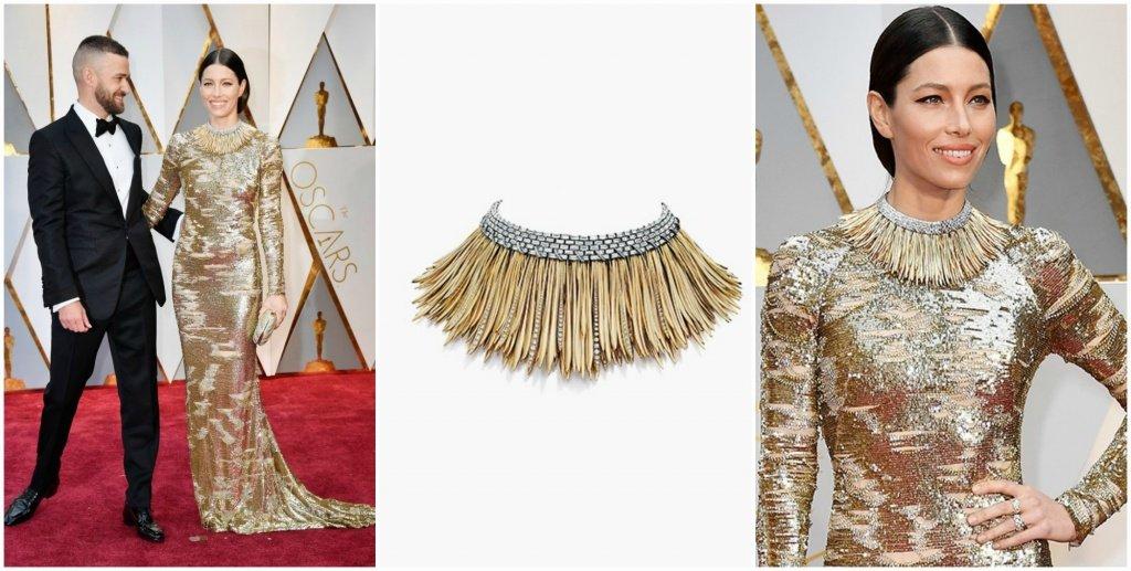 Джессика Бил на церемонии Оскар 2017