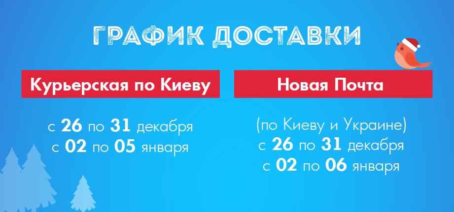 График доставки заказов Zlato.ua в Новый год и Рождество