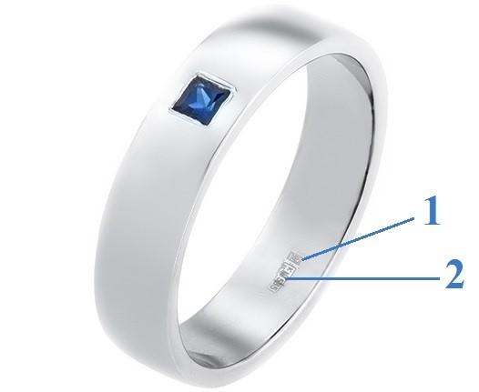 Именник и оттиск (проба) на кольце