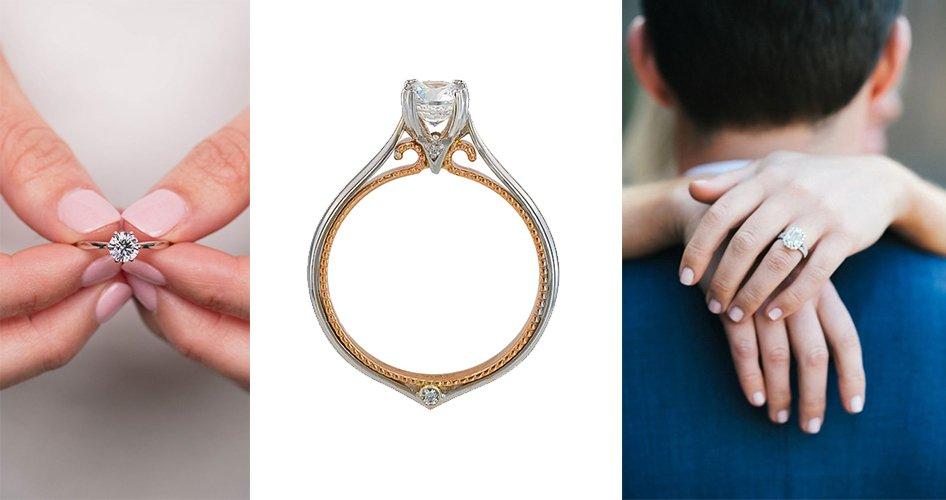 Крапановая закрепка в обручальном кольце