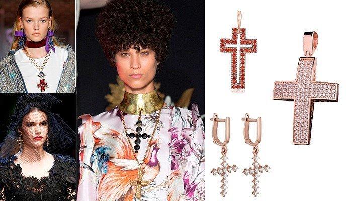 Кресты в образах на показе мод в Париже