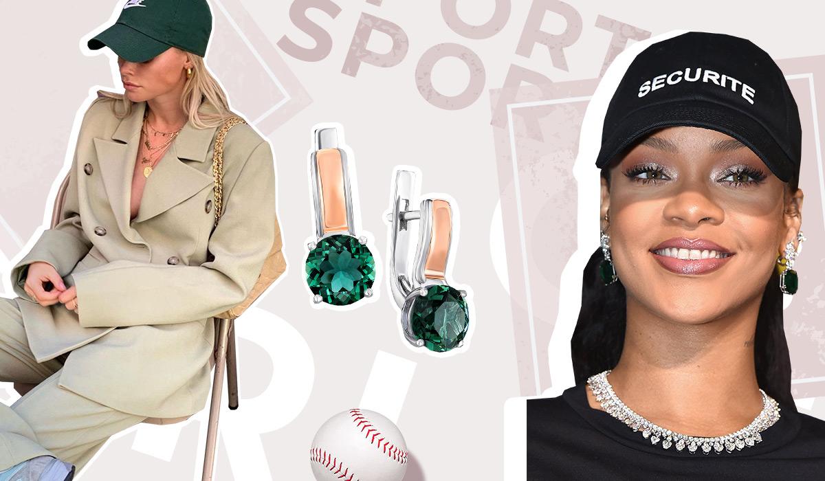 серебряные сережки с зелеными камнями