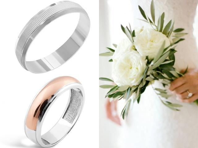 Серебряные обручальные кольца с родием
