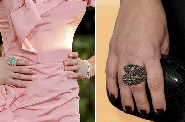Неудачный выбор колец для коротких полных пальцев рук