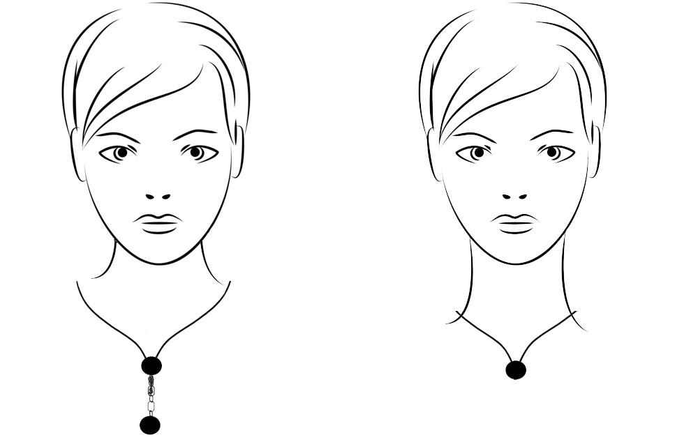 Украшение на шею разной длины
