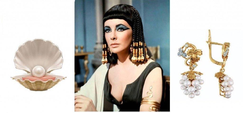Элизабет Тейлор в роли Клеопатры и ее украшения