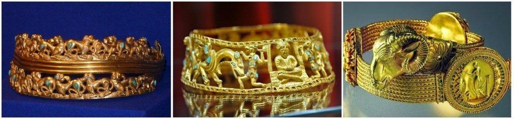 Золотые украшения скифов