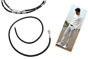 Мужские шнурки с серебряными замками