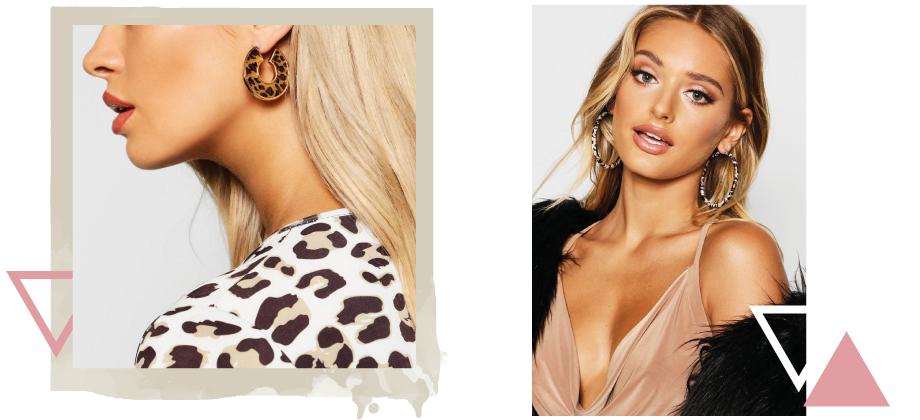 Крупные серьги с леопардовым принтом