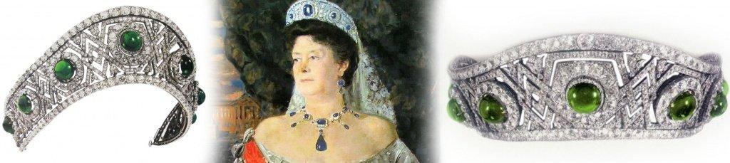 Тиара с изумрудами императрицы Елизаветы