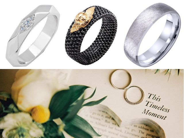 Золотые парные кольца