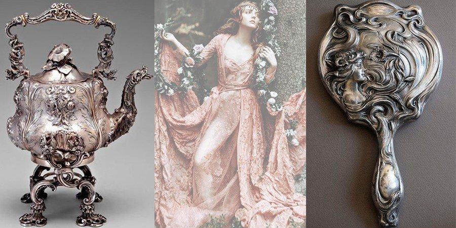 Серебренные изделия с чернением
