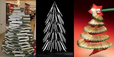 Новогодние елки из подручных материалов