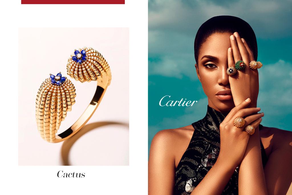 Кактус кольцо Картье