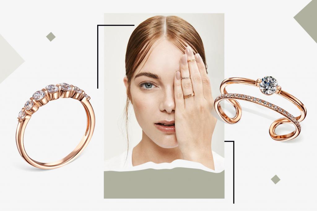 Золотые разомкнутые кольца