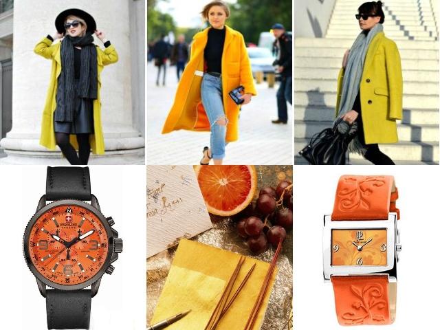 Оранжевый экран часы