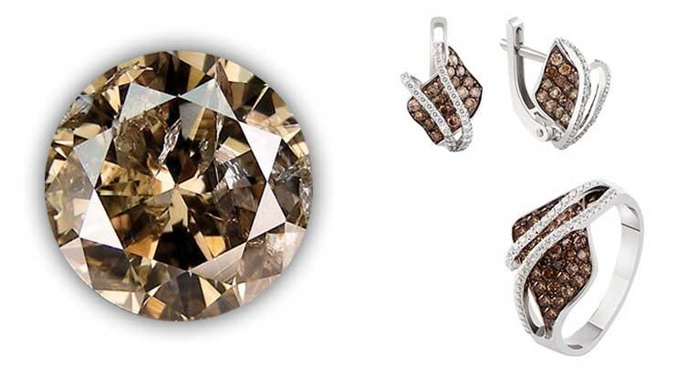 Ювелирные изделия с коньячными бриллиантами