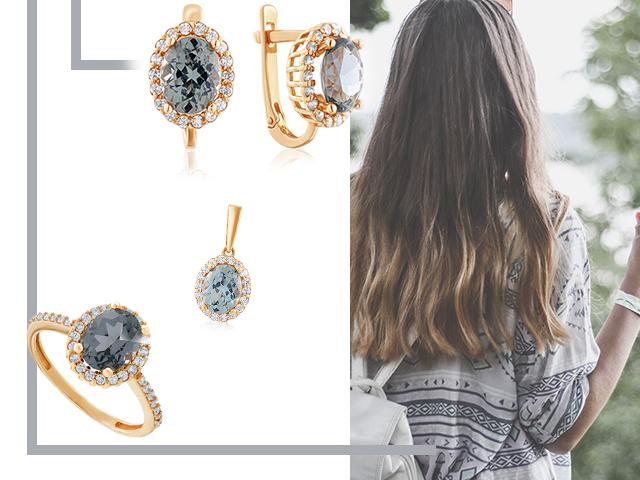 Золотые украшения с синтетическими камнями