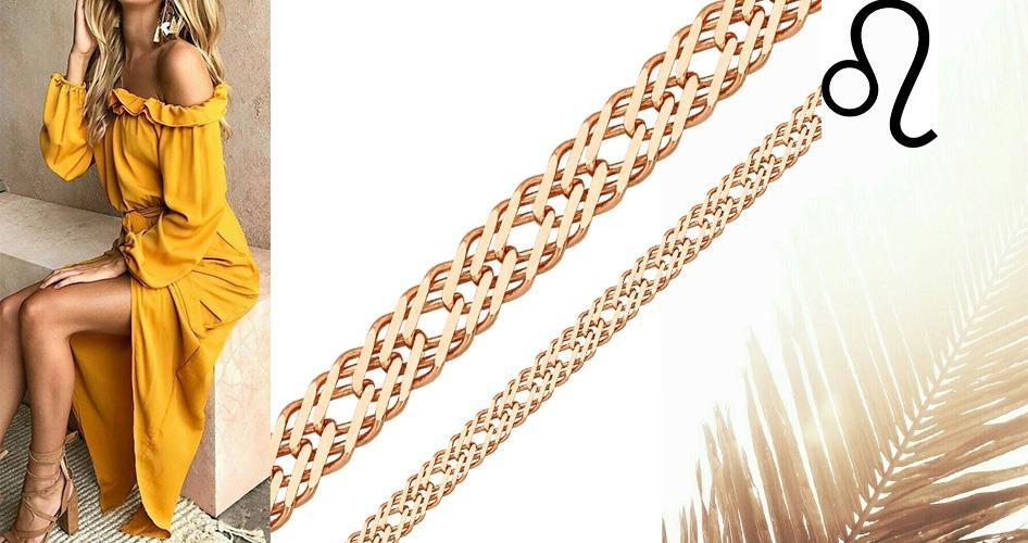 Массивная цепочка золото