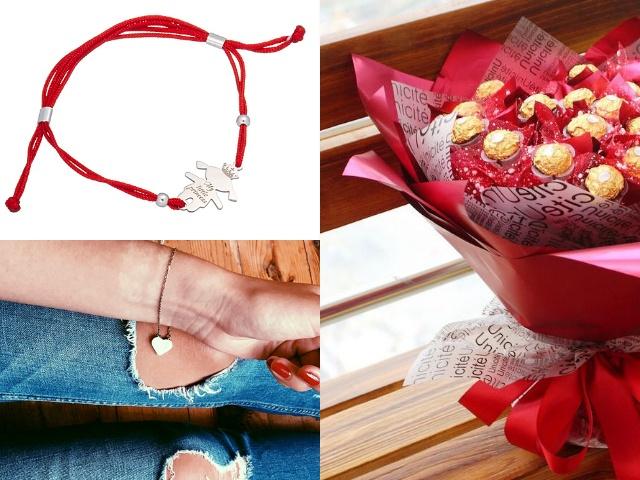 Красный шелковый браслет