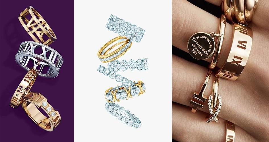 Кольца Тиффани из разных коллекций