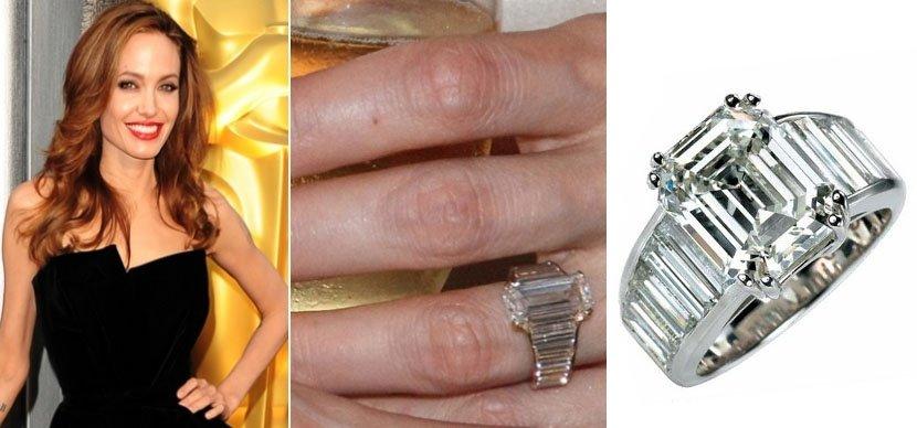 Брилиантовое кольцо Анджелины Джоли