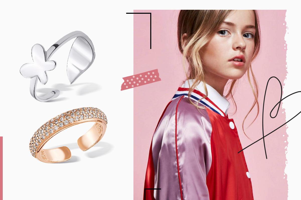 серебряные кольца для девочки