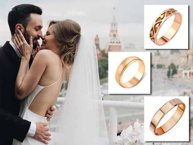 Обручальные кольца в красном золоте