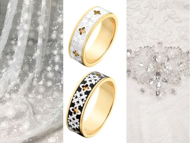 Обручальные кольца с цветочками