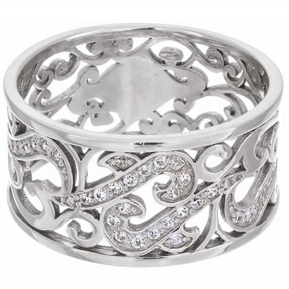 Женское кольцо с кубическим цирконием