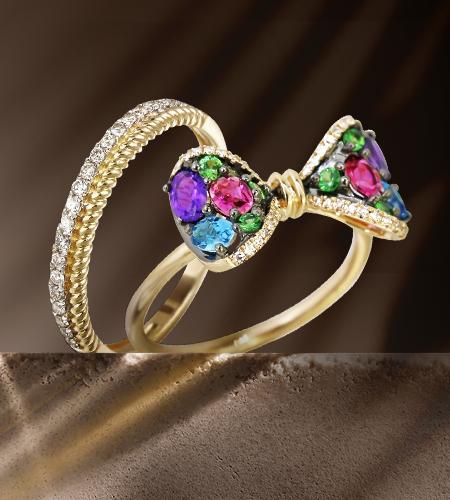Золотые украшения с бриллиантами в каталоге Zlato.ua