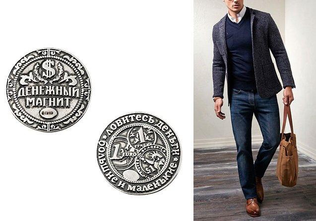 Серебряная монетка-сувенир
