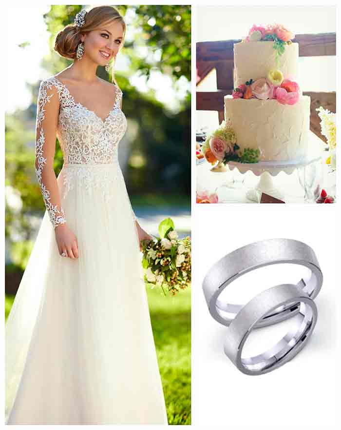 Обручальные кольца в белом цвете металла