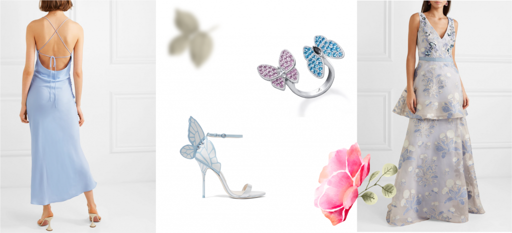Кольцо разноцветные бабочки