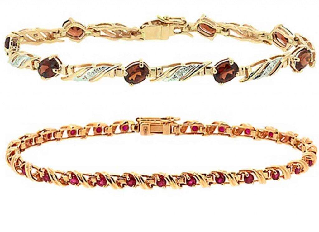 Золотые браслеты с камнями