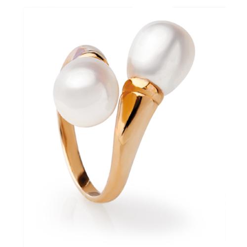 Кольцо с каплевидным жемчугом