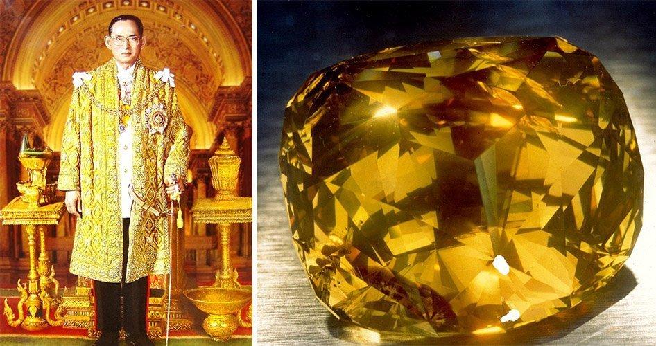 Желтый бриллиант королевской семьи Бангкока