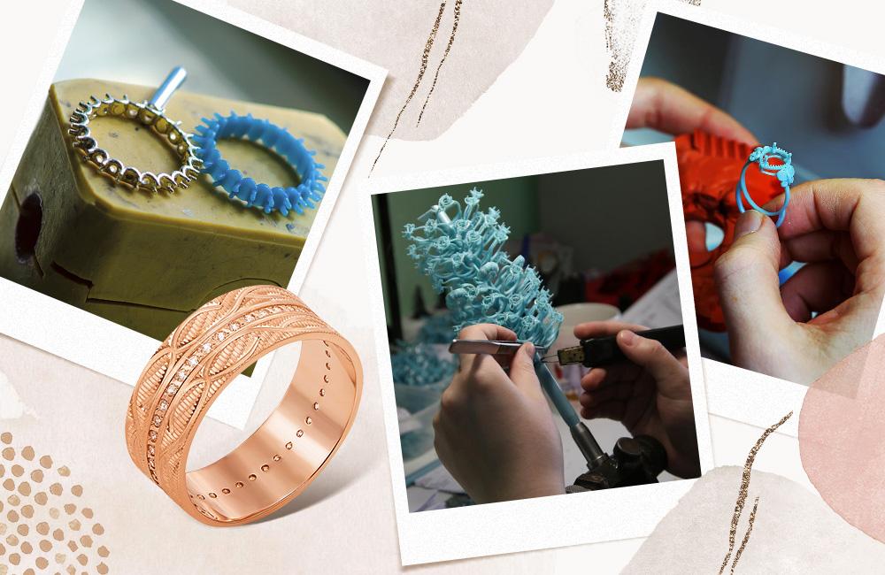 как делают золотые обручальные кольца