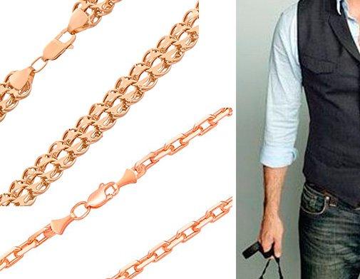 Мужские золотые цепочки