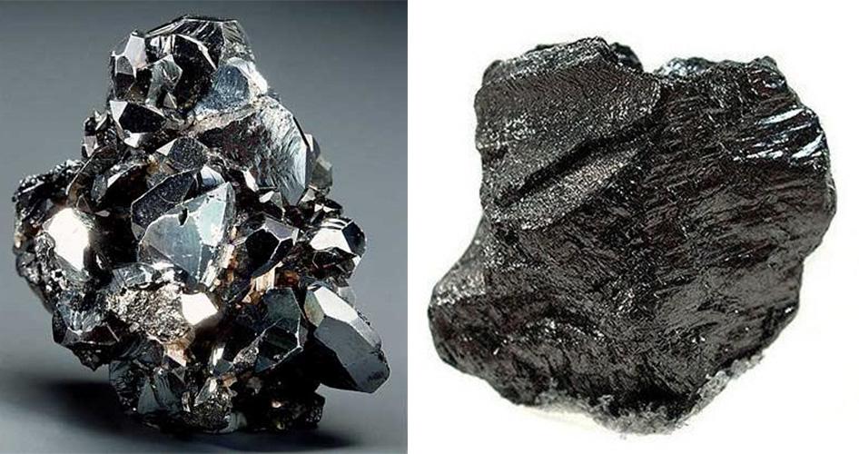 Черный камень карбонадо