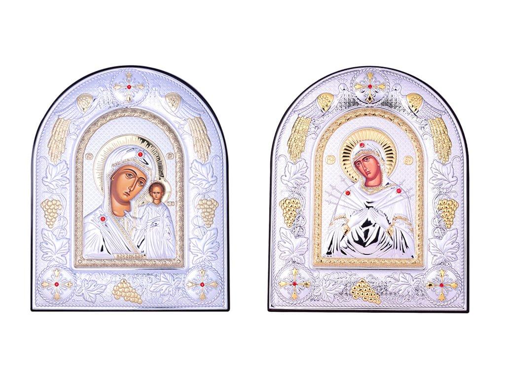 Иконы с ликами Святых с Swarovski Zirconia
