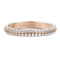Женское кольцо из розового золота