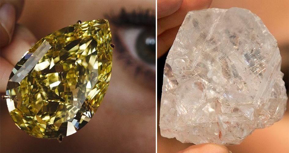 Разница между камнями с огранкой и без