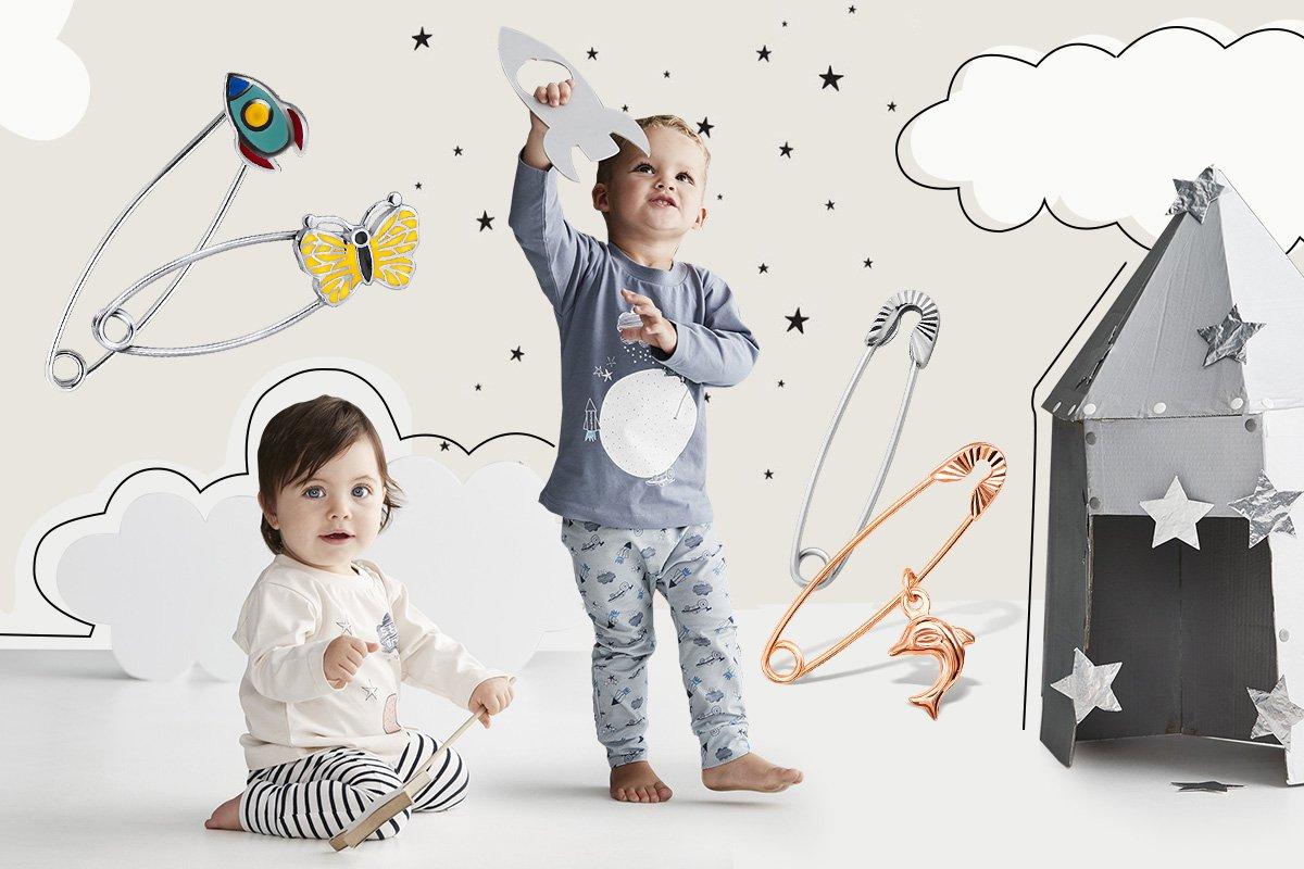 детские шпильки из серебра